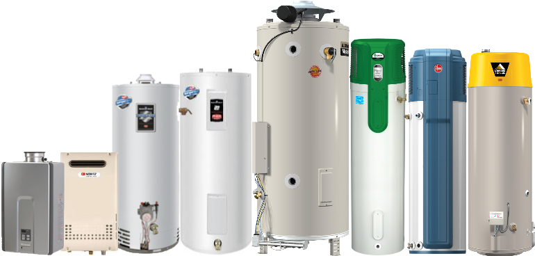 Pasadena Hot water heater products